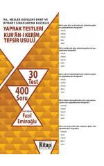 Kur'an-ı Kerim Tefsir Usulü Yaprak Testi / (587 Soru)Fazıl Eminoğlu